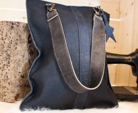 Shopaholic XL Kroko Blauw
