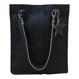 Shopaholic M black - grey glitter