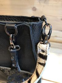 The Daisy Bag Zwart - Kroko