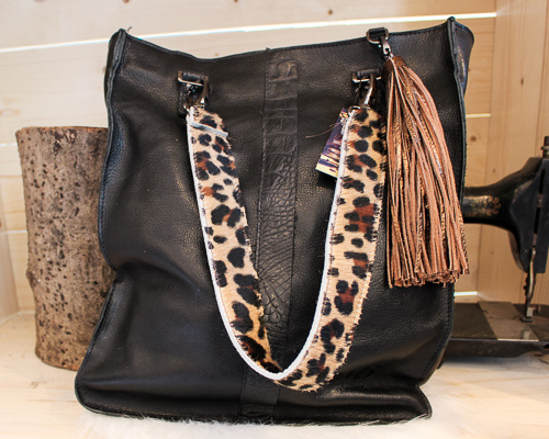Shopaholic L zwart - Kroko