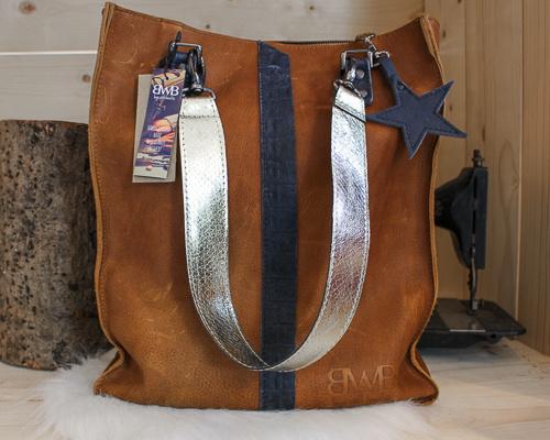 Shopaholic L bruin - zilver