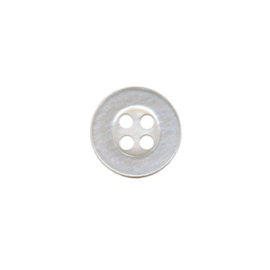 Button 10 mm white