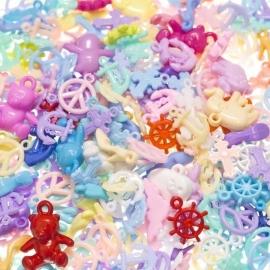 Charms Mix, pastel colors (25 pcs)