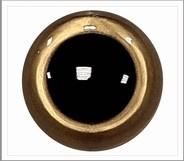 1 paar 8 mm ogen goud