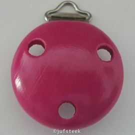 Pacifier Clip fuchia Roze 35 mm