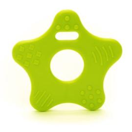 Plastic bijtring Ster Groen