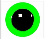 1 pair 12mm eyes green signal