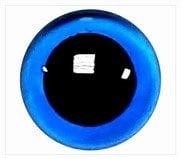 1 paar 10 mm ogen blauw (transparant)