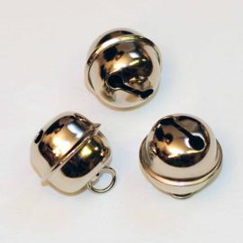 Zilveren belletjes 20 mm met ophanghaakje per stuk