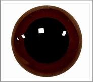 1 paar 10 mm ogen chocolade bruin