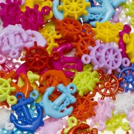Bedels Maritiem mix, felle kleuren (25 stuks)