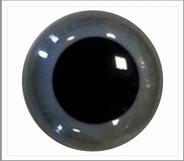 1 paar 8 mm ogen grijs