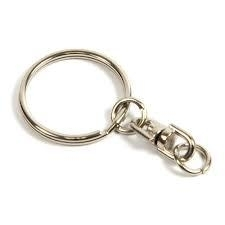 Key Rings 25 mm, with spinner (apiece)