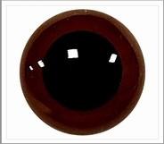 1 pair 10 mm eyes brown