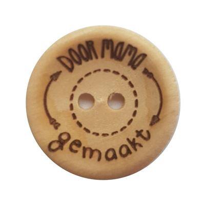 Houten Knoop *Door Mama gemaakt* 20 mm.