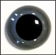 1 paar 6 mm ogen grijs