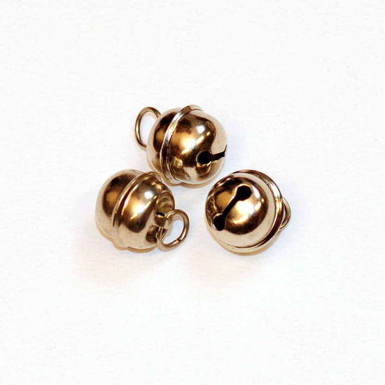 Silver bells 13 mm with hook (apiece)
