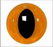 1 pair 15 mm cat eyes yellow
