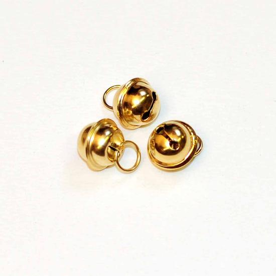 Gold Bells 11 mm with hook (apiece)