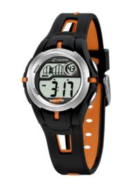 Calypso K5506/2 digitaal horloge 34 mm 100 meter zwart/ oranje