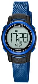 Calypso K5736/6 digitaal horloge 30 mm 100 meter blauw/ zwart