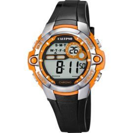 Calypso K5617/4  digitaal horloge 37mm 100 meter zwart/ oranje