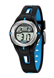 Calypso K5506/4 digitaal horloge 34 mm 100 meter zwart/ blauw