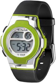 Sinar XF-60-3 digitaal horloge 33 mm 100 meter groen/ grijs