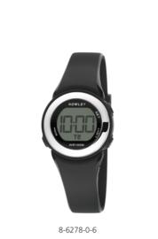 Nowley 8-6278-0-6 digitaal horloge 29 mm 100 meter zwart/ zilverkleur