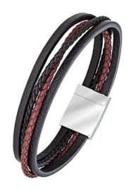 All Blacks 682129 bruin leren armband 21 cm