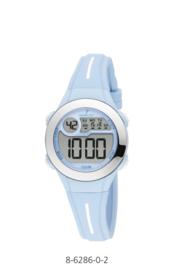 Nowley 8-6286-0-2 digitaal horloge 30 mm 100 meter blauw