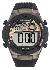 All Blacks 680333 digitaal horloge 50 mm 100 meter zwart/ goud