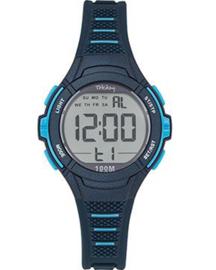 Tekday 654661 digitaal horloge 35 mm 100 meter blauw