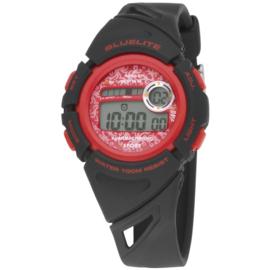 Nowley 8-6237-0-2 digitaal horloge 37 mm 100 meter zwart/ rood