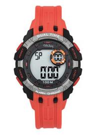 Tekday 653263 digitaal horloge 40 mm 100 meter oranje/ zwart