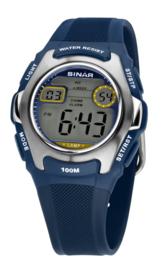 Sinar XE-50-2 digitaal horloge 38 mm 100 meter blauw/ grijs