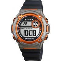 Xonix BAE-005 digitaal horloge 38 mm 100 meter grijs/ oranje