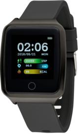 Nowley 21-2029-0-3 smartwatch 37x45 mm zwart incl. zwarte siliconen band
