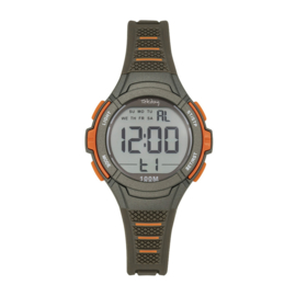 Tekday 654660 digitaal horloge 35 mm 100 meter grijs/ oranje