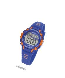 Nowley 8-6294-0-3 digitaal horloge 35 mm 100 meter blauw/ oranje