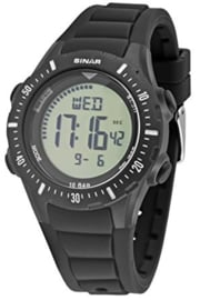 Sinar XR-12-1 digitaal horloge 40 mm 100 meter zwart