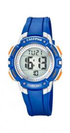 Calypso K5739/2 digitaal horloge 36 mm 100 meter blauw/ grijs