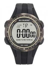 All Blacks 680314 digitaal horloge 44 mm 100 meter zwart/ grijs