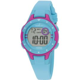 Nowley 8-6243-0-6 digitaal horloge 32 mm 100 meter turquoise/ roze