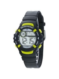 Marea B25132/1  digitaal horloge 36 mm 100 meter zwart/ groen
