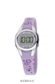 Nowley 8-6300-0-4 digitaal horloge 28 mm 100 meter lila/ grijs