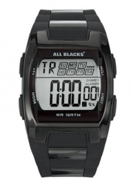 All Blacks 680057 digitaal horloge 37 mm 100 meter zwart