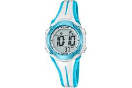 Calypso K5682/8 digitaal horloge 35 mm 100 meter wit/ blauw
