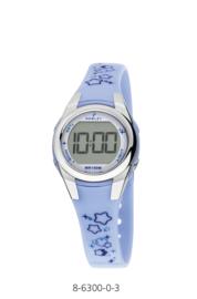 Nowley 8-6300-0-3 digitaal horloge 28 mm 100 meter blauw/ wit