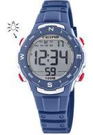 Calypso K5801/5 digitaal horloge 33 mm 100 meter blauw/ rood